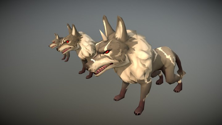 Egypt Wolf Champion Pack - Handpainted Lowpoly 3D Model