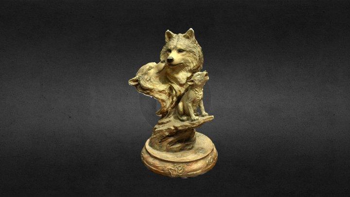 Wolf Statue - Photogrammetry Assignment 3D Model