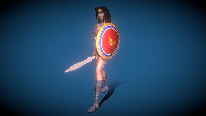 DC Wonder Woman Toon Model 3D Model