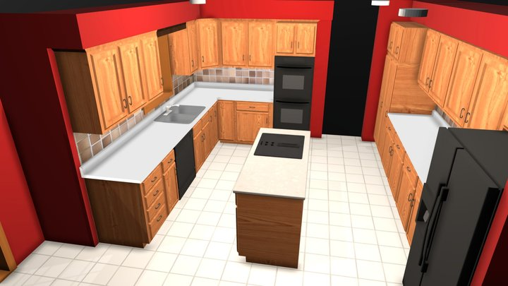 Kitchen Block 3D Model