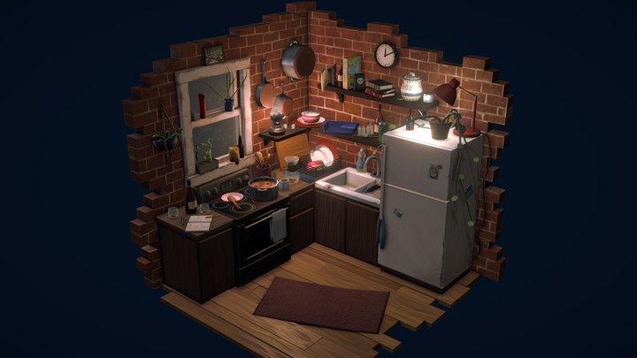 Comfy Kitchen 3D Model