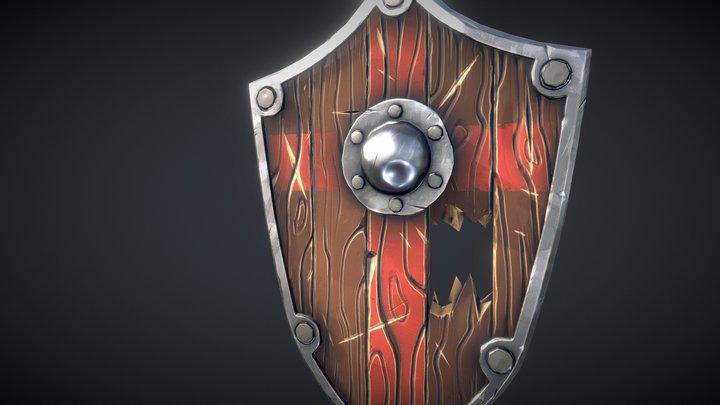 Stylized Shield 3D Model