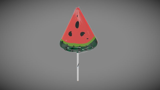 Lollipop_watermelon 3D Model