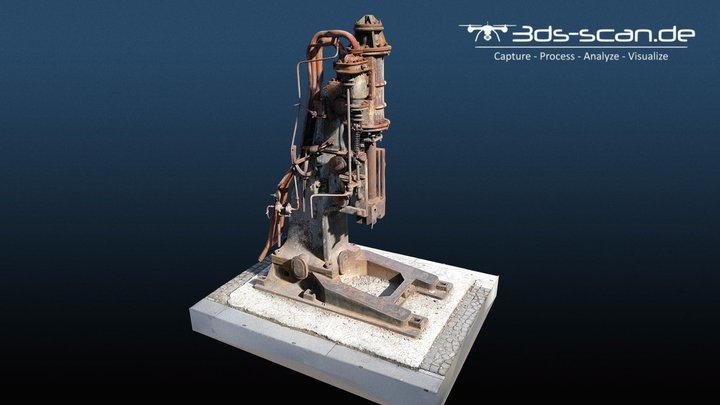 Dampfhammer, Zeche Zollverein in Essen/Germany 3D Model