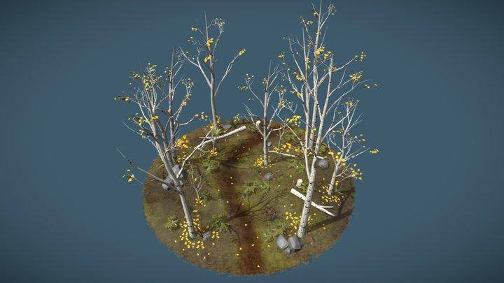 Birch Forest 3D Model