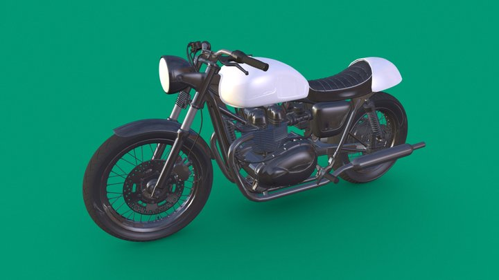 TRIUMPH BONNEVILLE CAFE RACER 3D Model