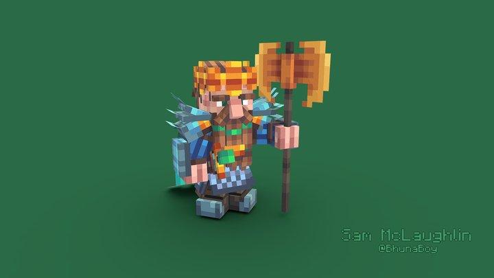 Dwarf King 3D Model