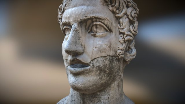 Cabeca no Castelo de Roma 3D Model