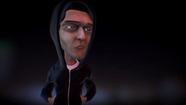 Mr. Robot Fan Art 3D Model