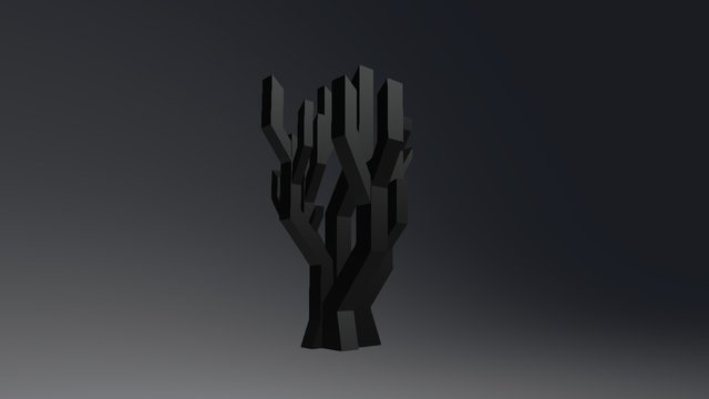 Arbres Embranchements Bambou 1 3D Model