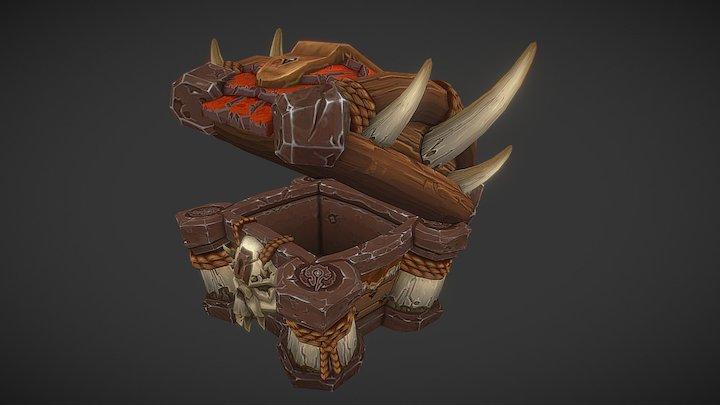 WoW Fan Art: Orc Treasure Chest 3D Model