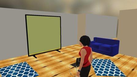 Lazy TV room 3D Model