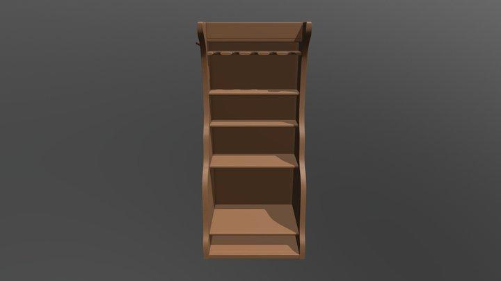 Shaving Shelf 3D Model