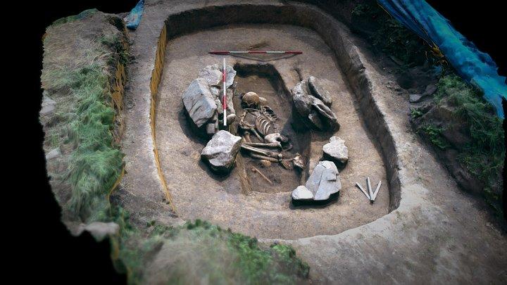 Únětický hrob - Holubice 3D Model