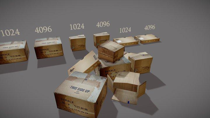 CardBoard Box Pack 3D Model