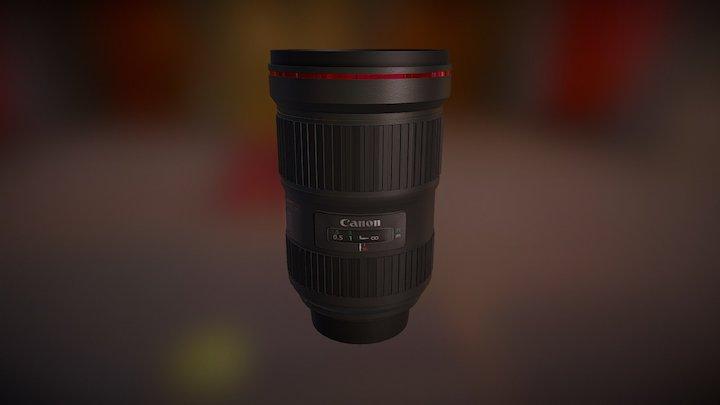 Canon EF 16 - 35 mm f/2.8L III USM Lens - Black 3D Model