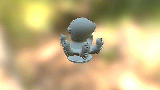 Octopus-peluche-ventouse Obj 3D Model