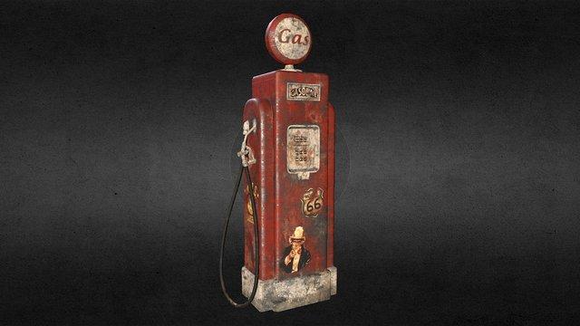 Rusty Gasoline Pump 3D Model