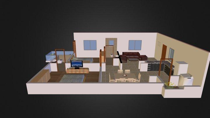 Pranava Avenues 2 B H K 1270(3d) 3D Model