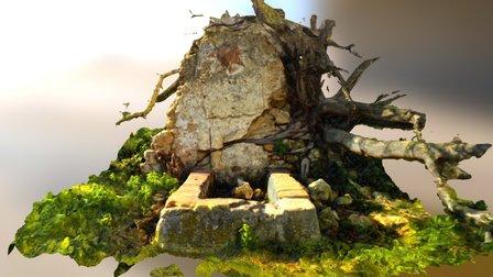 Pilar de la Estrellita. Fuente Parraleja 3D Model