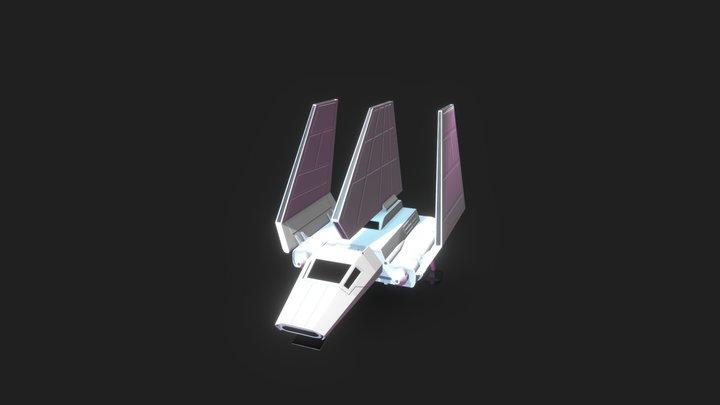 Low Poly Star Wars Lambda Shutter 3D Model