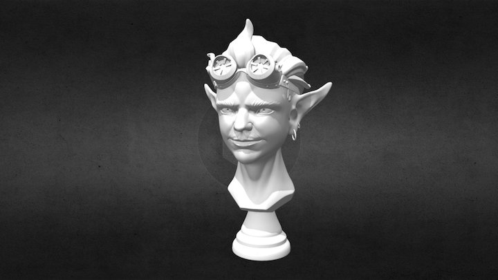 Bust of an Imp-like Creature 3D Model