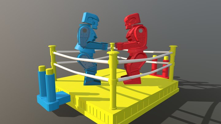 Rock em sock em robots 3D Model