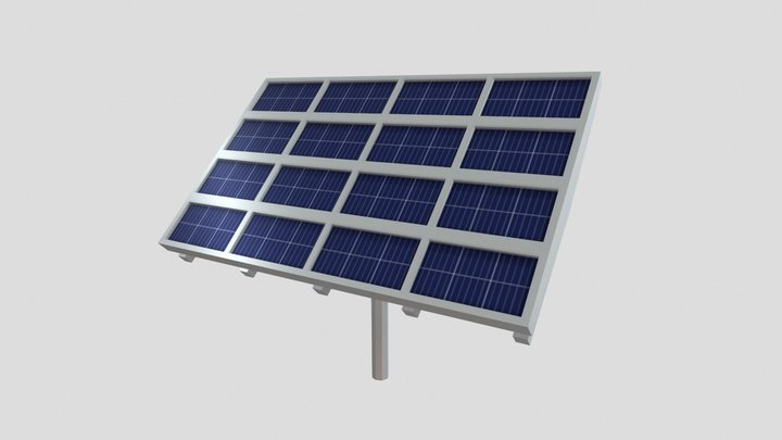 Painel Solar 3D Model
