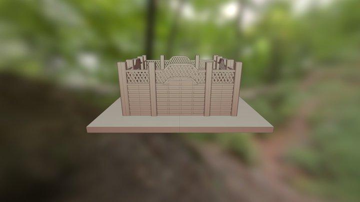 Fencing 3D Model