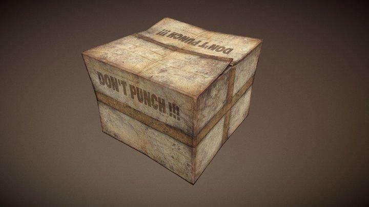 "Box ""Don`t punch!!!"" 3D Model"