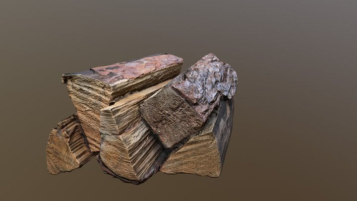 Firewood Low poly 3D Model
