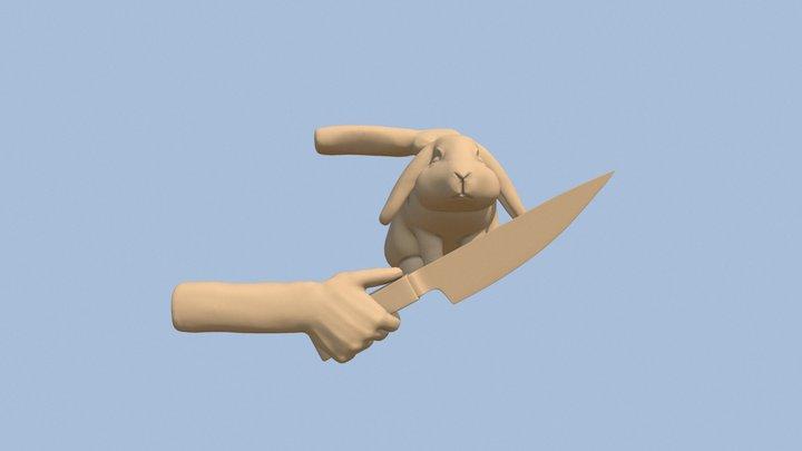 """Sculpt January 2020, Day 3 : """"Nervous"""" 3D Model"""