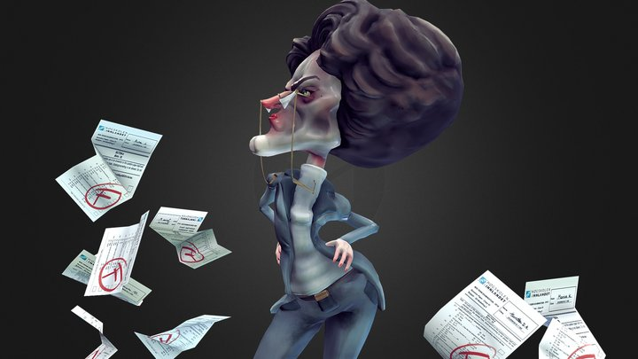 Mrs. Grundy 3D Model
