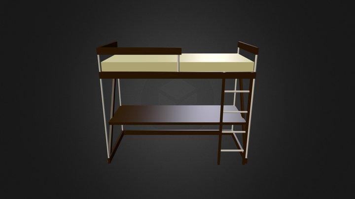 Bunk-Bed work area Mock-Up 3D Model