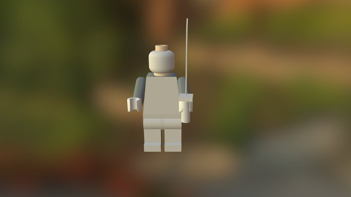 Lego Person With Sword 3D Model