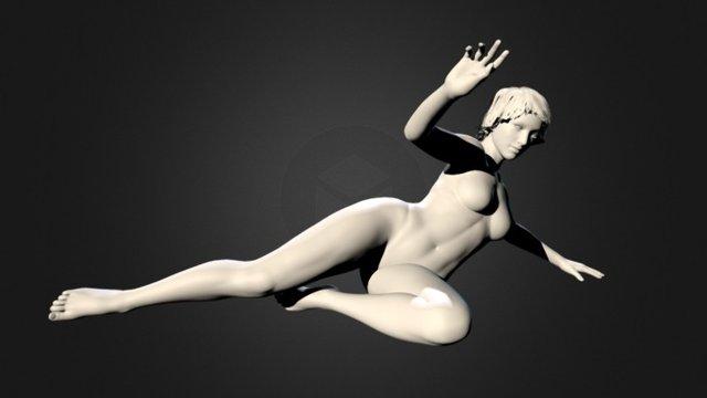 Female Pediment 3D Model