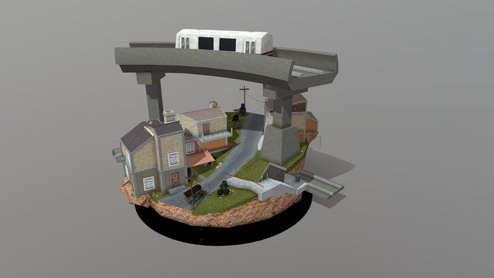 City Scene Bangkok 3D Model