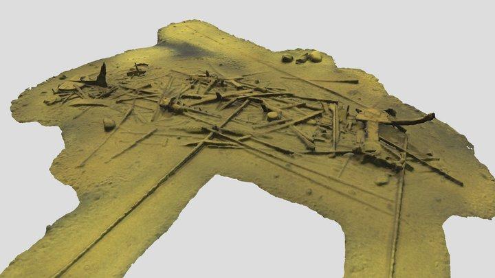 Lehmäsaaren luoteiskärjen hylky 3D Model