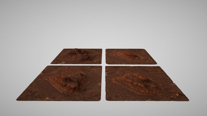 Red Canyon Landscapes 3D Model