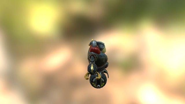 Cyborg Vehicle 3D Model