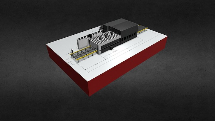 Scale model on blueprint 3D Model