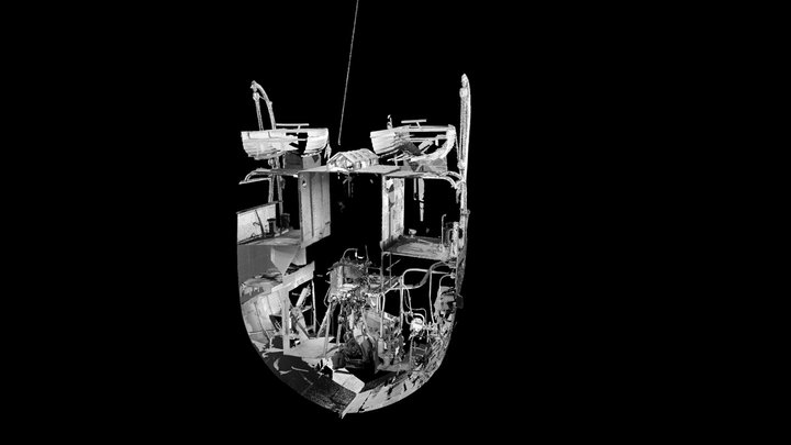 SS Robin - 3D Point Cloud (V,B) - Engine 3D Model
