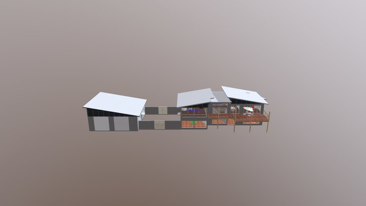beach home 3D Model