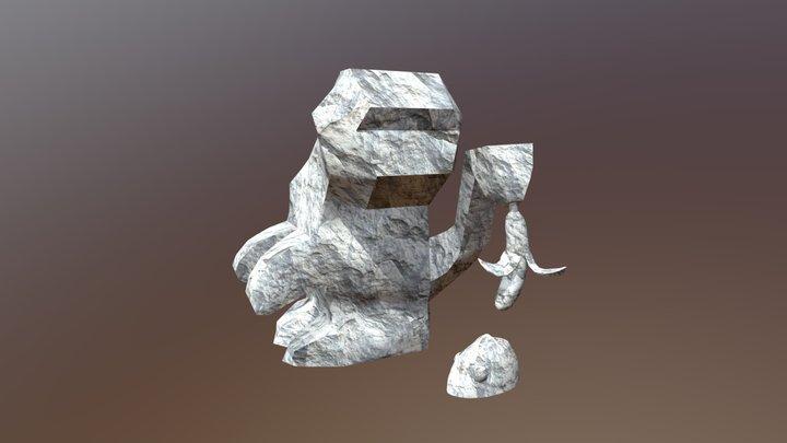Monkey & Fish 3D Model