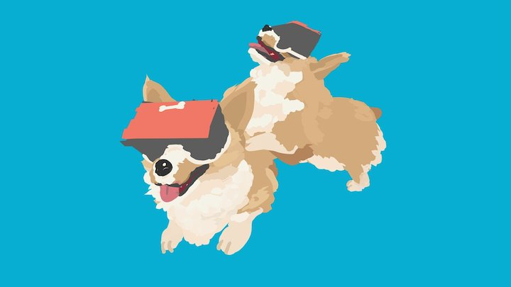 Daily VR Sketch, April 7th: Corgis! 3D Model