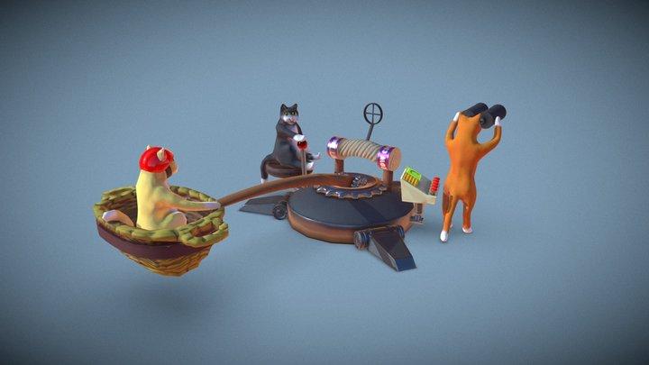 Lost Cat's Catapult 3D Model