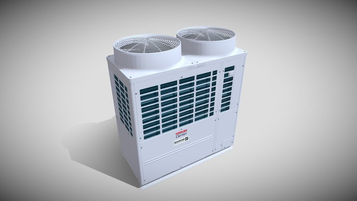 20hp Toshiba Carrier Heat Recovery Outdoor Unit 3D Model