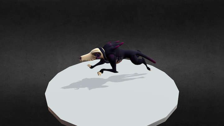 Beast Sprint Anim 3D Model