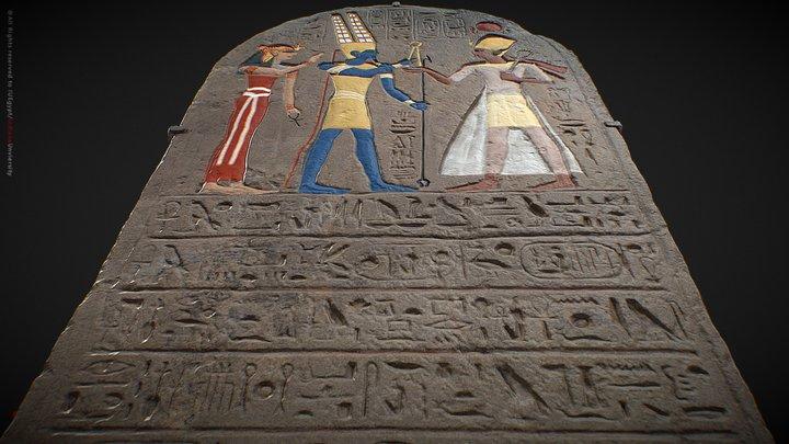 Stela of Ramesses II_Restoration project 3D Model