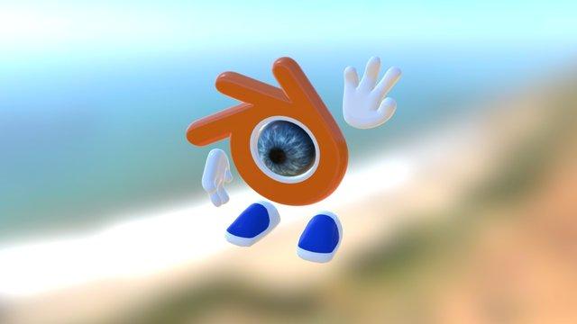 London Blender User Group Mascot 3D Model